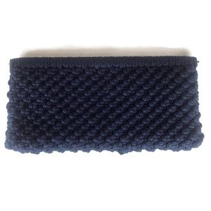 NEW Navy Rope Knot Spring Open Lock Clutch Purse